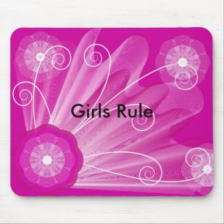 pink-astract-background, Girls Rule Mouse Pad