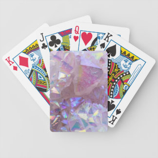 Pink Aura Crystals Bicycle Playing Cards