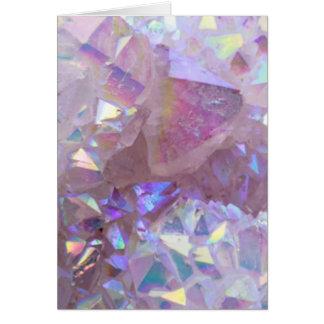 Pink Aura Crystals Card