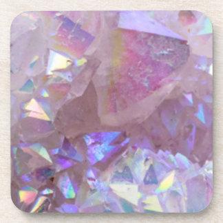 Pink Aura Crystals Coaster