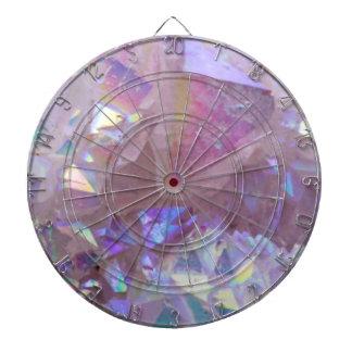 Pink Aura Crystals Dartboard