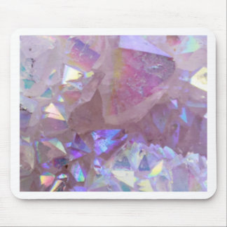 Pink Aura Crystals Mouse Pad