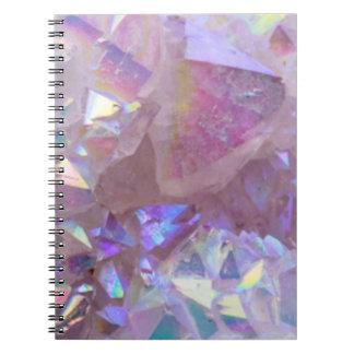 Pink Aura Crystals Notebooks