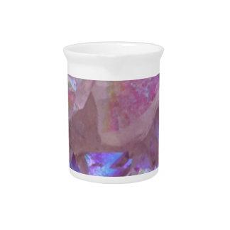 Pink Aura Crystals Pitcher