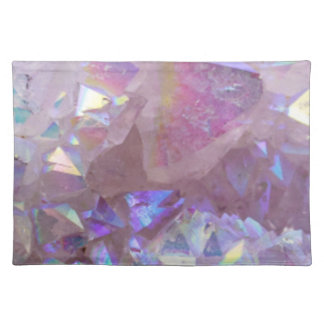 Pink Aura Crystals Placemat