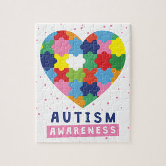 pink autism awareness jigsaw puzzle