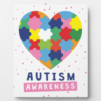 pink autism awareness plaque