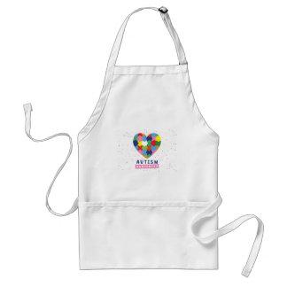 pink autism awareness standard apron