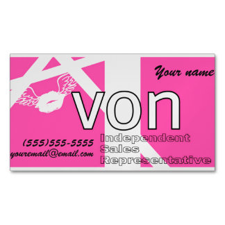 Pink Avon Personalised Magnetic Business Card