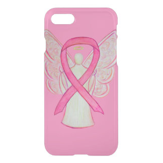 Pink Awareness Ribbon Cancer Angel iPhone 7 Case