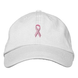 Pink Awareness Ribbon Embroidered Baseball Caps