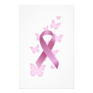 Pink Awareness Ribbon Personalized Stationery