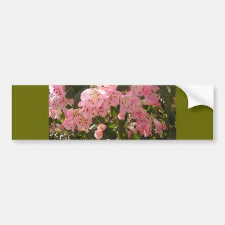 Pink Azalea Flowera Bumper Sticker