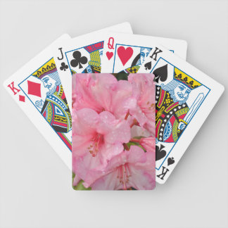 Pink azalea flowers bicycle playing cards