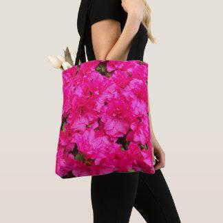 Pink Azalea Flowers Floral Tote Bag
