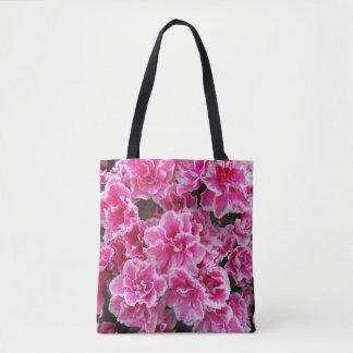Pink Azaleas Floral Tote Bag