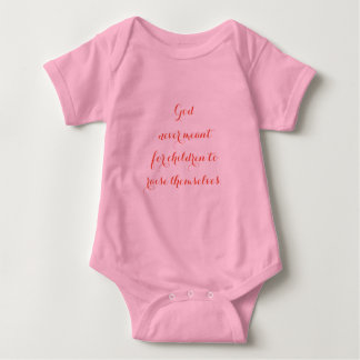 Pink Baby Bodysuit with God's Notes.