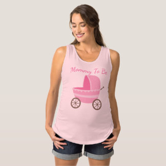 Pink Baby Carriage Mommy To Be Maternity Singlet