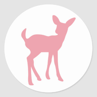 Pink Baby Deer Sticker