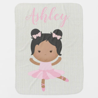 Pink Baby Girl Ballerina Ballet Toe Shoes Dancer Baby Blanket