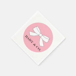 Pink Baby Girl Party Appetizer Napkins Disposable Napkin