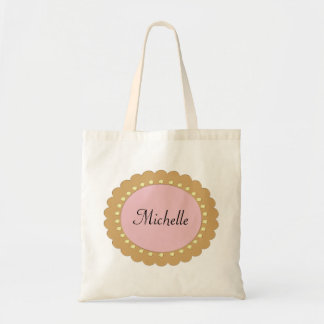 Pink Baby Girl Personalised Diaper Tote Bags