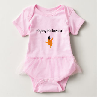 Pink Baby Girl Tutu Bodysuit Halloween Ghost.