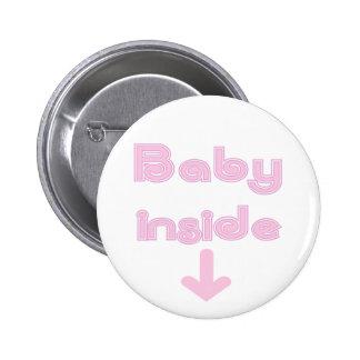 Pink Baby Inside - Customized 6 Cm Round Badge