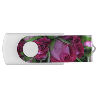 Pink baby rosebuds USB flash drive