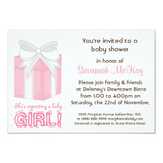 Pink Baby Shower - Modern Mommy Baby Bump Card
