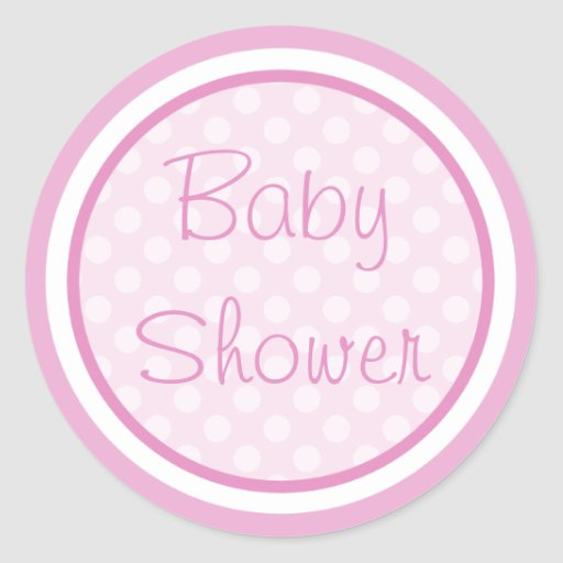 Pink Baby Shower Stickers