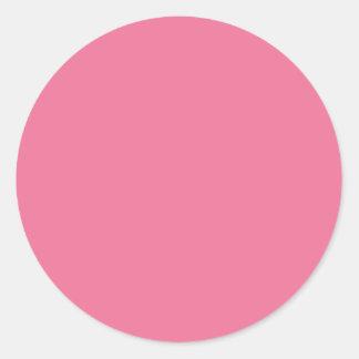 Pink Background Color Round Sticker