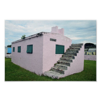 Pink Bahamas Jail, Green Turtle Cay Poster