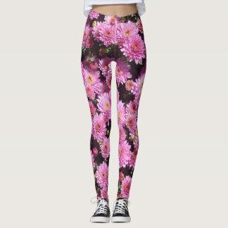 Pink Ball Chrysanthemum Legging