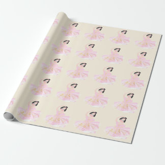 Pink Ballerina gift paper by Gemma Orte