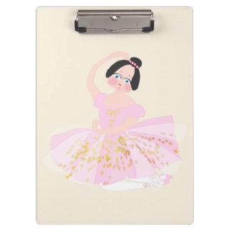 Pink ballerina illustration Clipboard by Gemma