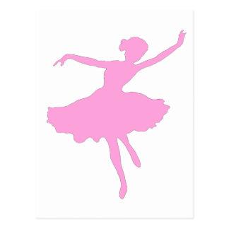 Pink Ballerina Postcard