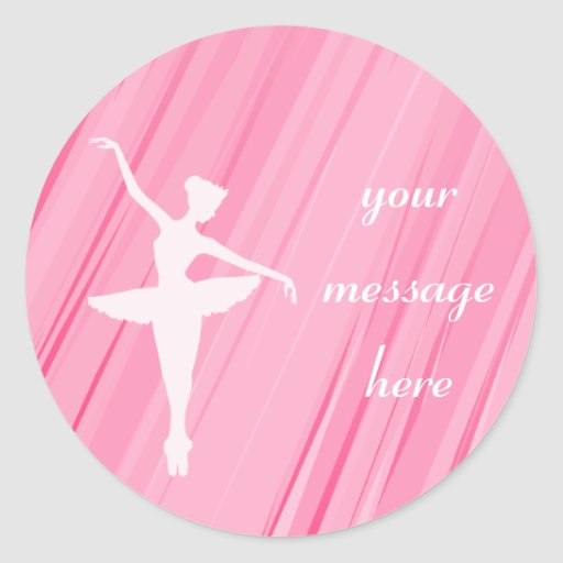 Pink Ballerina Silhouette Stickers