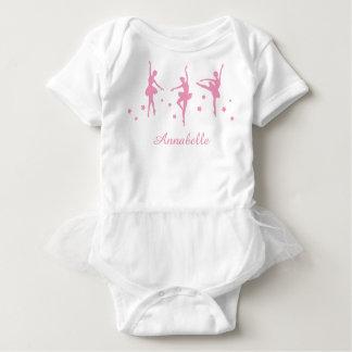 Pink Ballerinas Baby Bodysuit