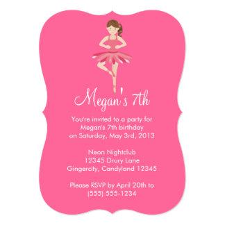 Pink Ballet Birthday Invitation