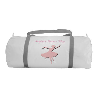 Pink Ballet Dancer Duffel Bag Gym Duffel Bag