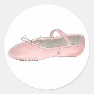 Pink Ballet Shoe Slipper Ballerina Dance Stickers