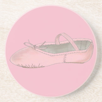 Pink Ballet Shoe Slipper Ballerina Dance Teacher Coaster