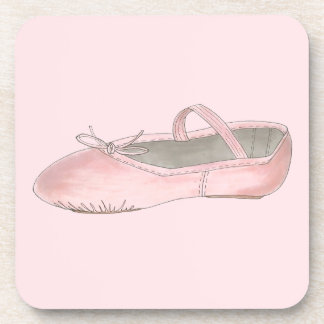 Pink Ballet Shoe Slipper Dance Teacher Ballerina Coaster