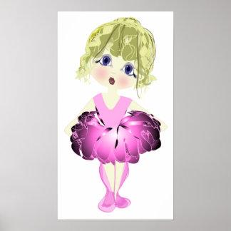 Pink Ballet Shoes Art Poster