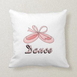 Pink Ballet Shoes- Dance Throw Pillow