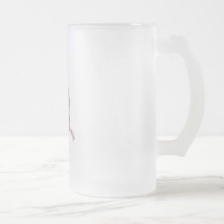 Pink Ballet Shoes Frosted Glass Mug