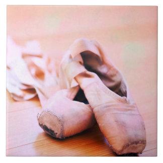 Pink Ballet Slipper Pointe Shoes Dance Template Tile