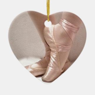 Pink Ballet Slippers Ceramic Ornament