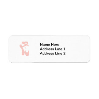 Pink Ballet Slippers Return Address Label